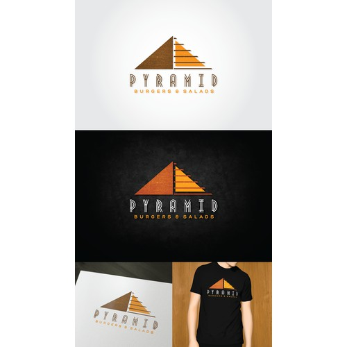 Pyramid Burgers Needs an Eye-Catching Brand-Building Logo!