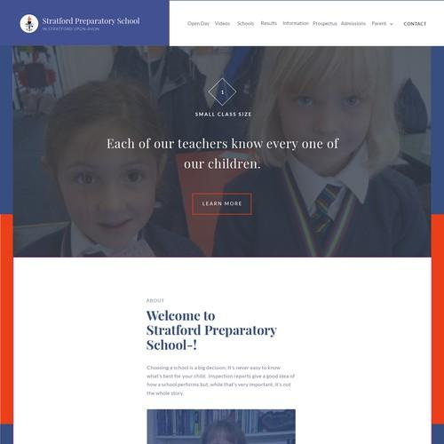 Stratford Preparatory School Landing Page