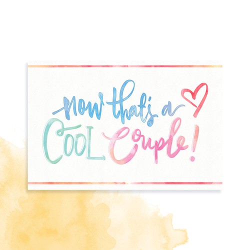 Cool Couple Greeting Card