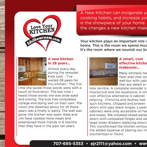 6x9 Postcard for Kitchen Contractor