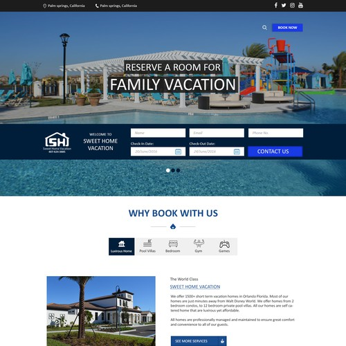 Web Page Design for Hotel/Resort