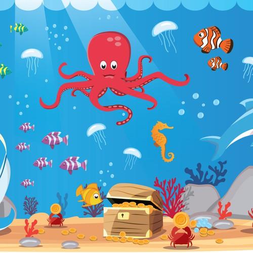 illustrations sea theme
