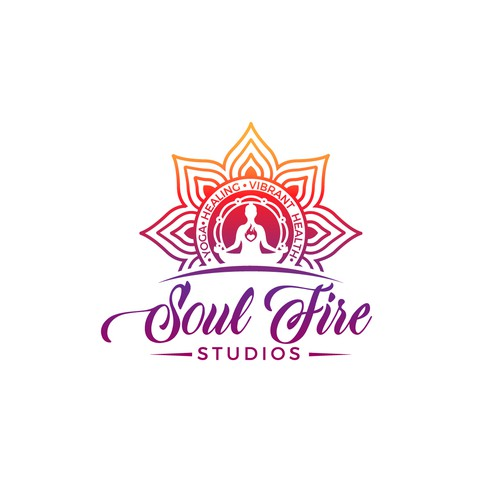 Logo and branding for a yoga studio.