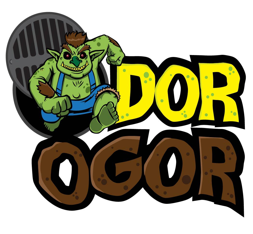 OdorOgor Character - Smelly Guy to Represent a Product That Gets Rid of Wastewater Smells