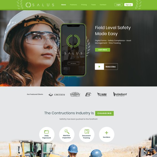 Safety software (mobile apps) for construction, oil & gas, mining, and forestry.