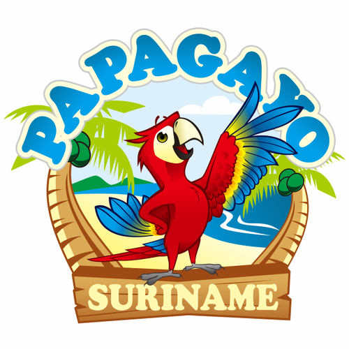 Create a capturing Amazon parrot illustration for Papagayo, a weekly activity newsletter.