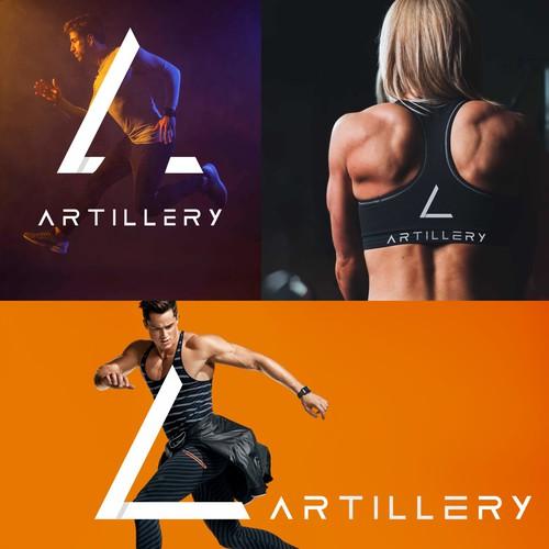 Logo design concept for artillery, a sports clothing brand