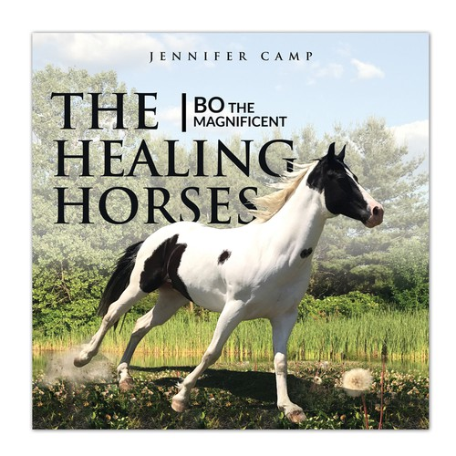 Book Cover for Children's book about horses used in therapy.