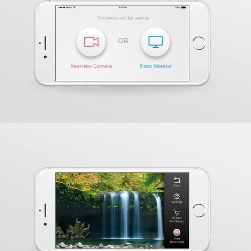 App design for a remote screen camera app