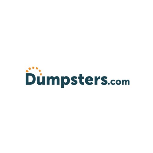 Logo for online dumper rental company
