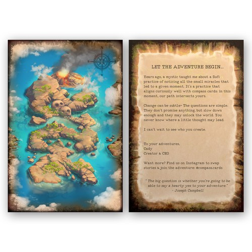 Treasure Map Postcard