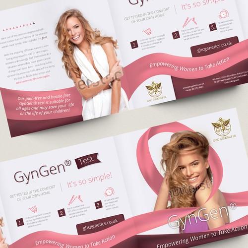Attractive, feminine yet empowering brochure for women
