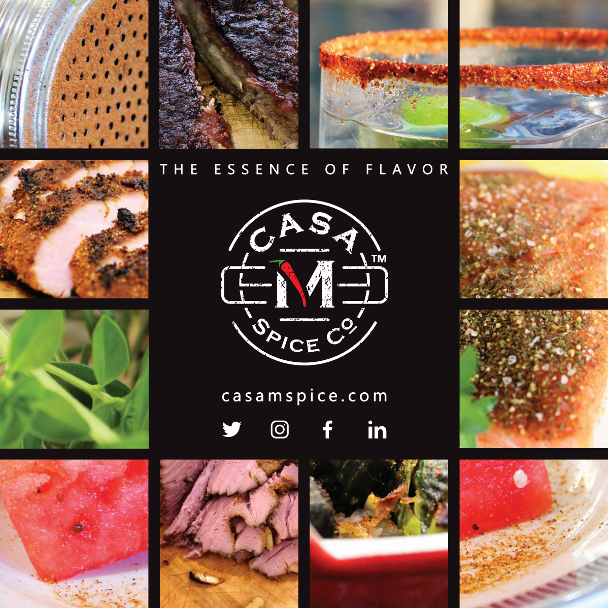 Stickers, Flyers, and Cards for Casa M Spice Co
