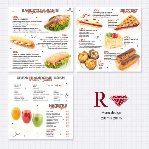 Clean and Playful menu design