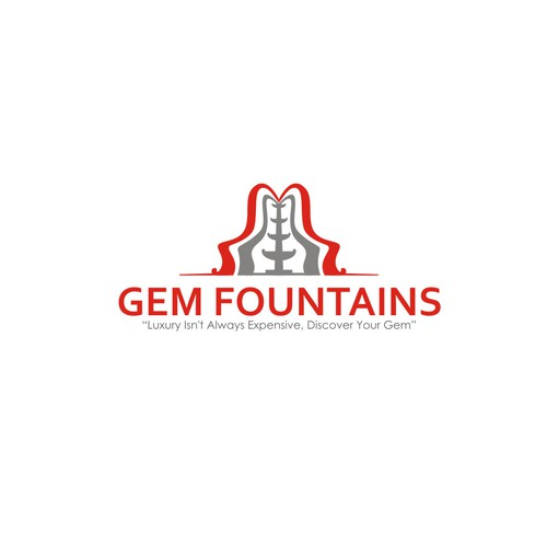 Logo for luxury water fountains