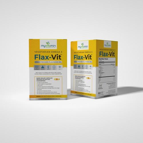 MyVitamin- Flax-Vit - Box Design