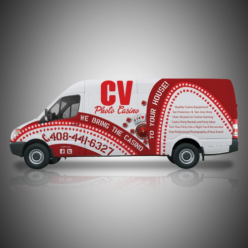 Van Wrap For Casino Party Rentals