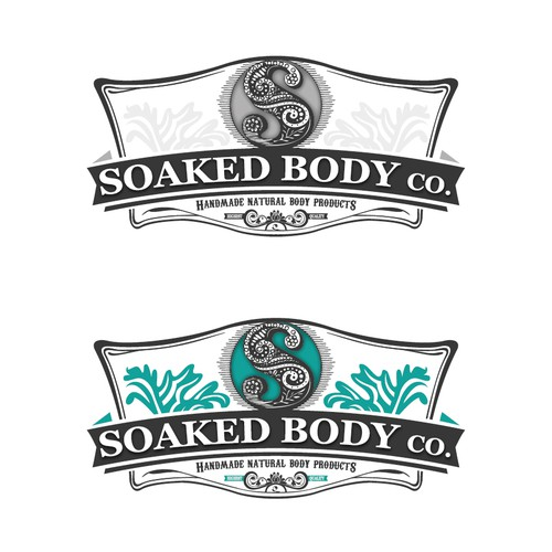 Create cigar style logo for body products company Soaked Body Co.