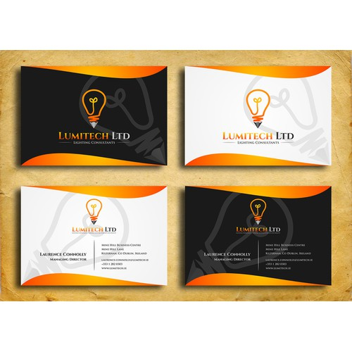 Help Lumitech Ltd with a new logo and business card