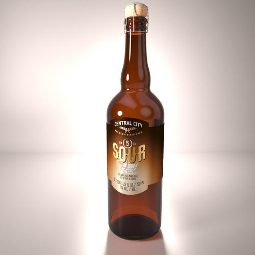 Central City Mango Sour Beer Label