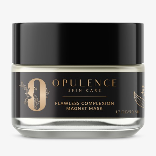 Opulence Skin Care Label Design