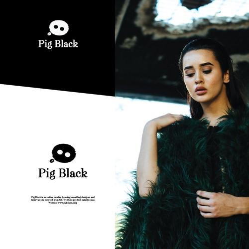 Pig Black Logo concept