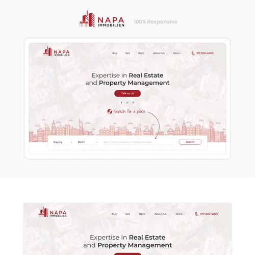 Landing Page for German Real Estate Company