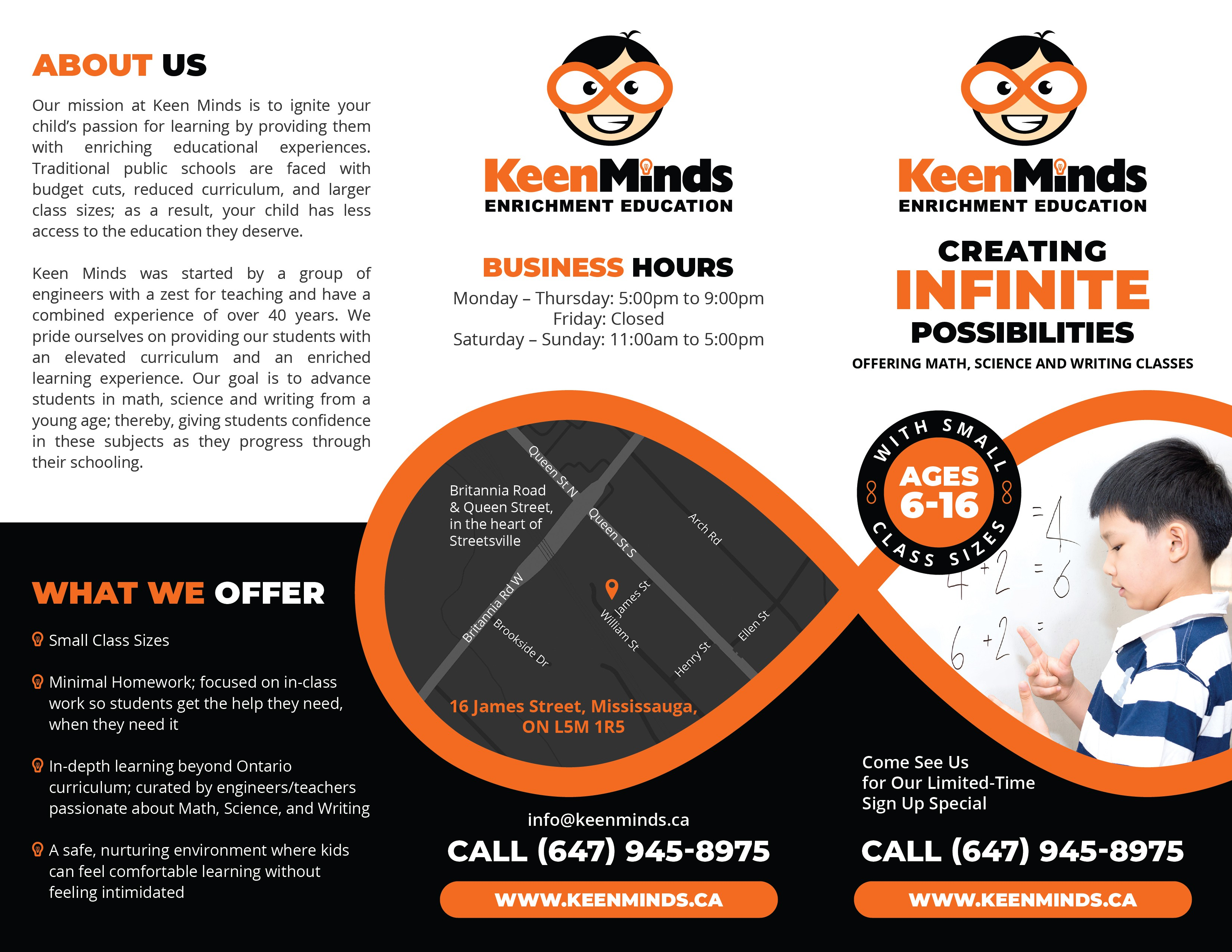 Keen Minds Brochure and Flyer modification
