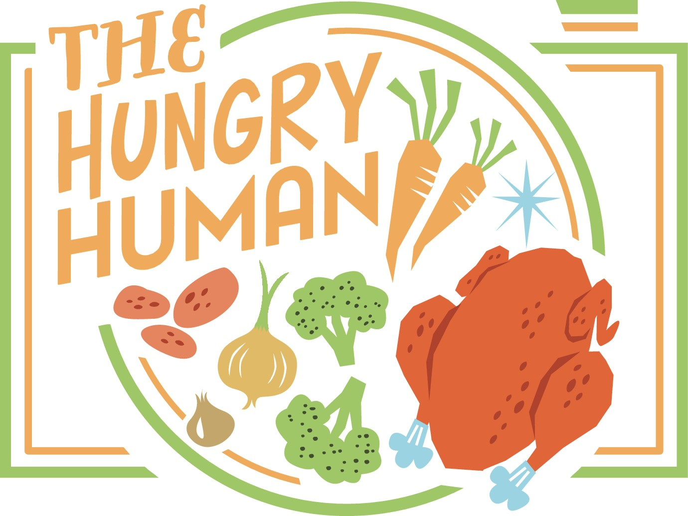 "Simple, Playful and Welcoming Logo for ""The Hungry Human"" Food Blog Logo Design :)"