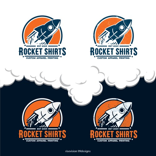 Logo Designs ROCKET SHIRTS custom printed t-shirts