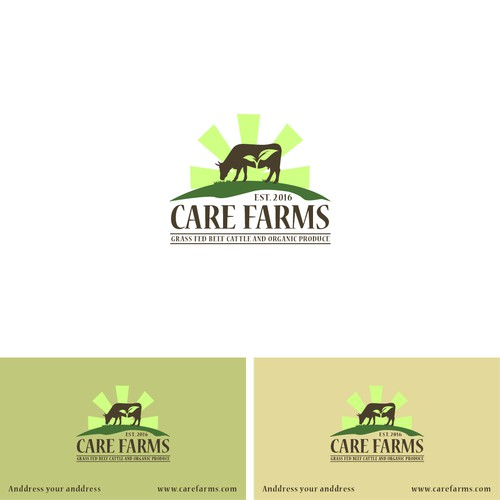 modern and unique logo care farms