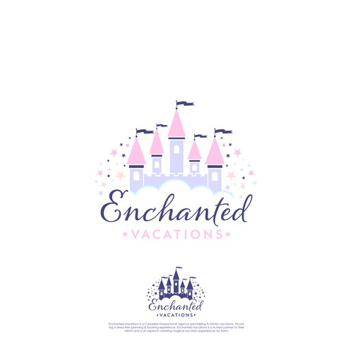 A magical logo for Enchanted Vacations