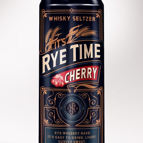 Rye Whiskey Base Seltzer Design for Craft Distillery