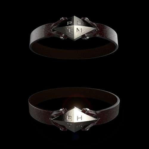 Men's Leather Bracelet 3D