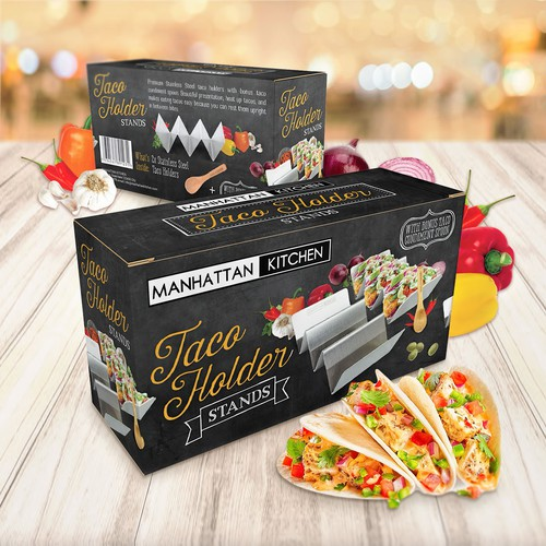 Packaging design for Taco holders