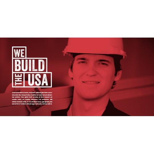 We Build The USA Logo Design