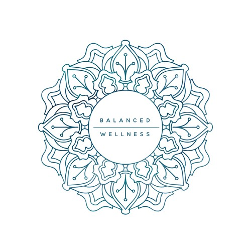 Mandala style logo for a wellness center