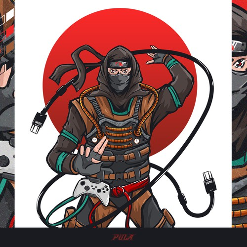 Designing a T-shirt with a Ninja character
