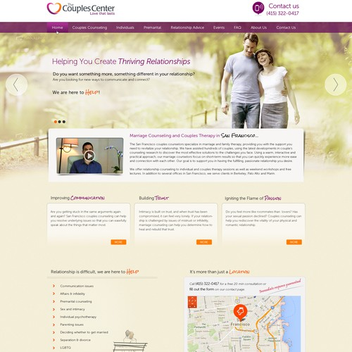 Help The Couples Center with a new website design