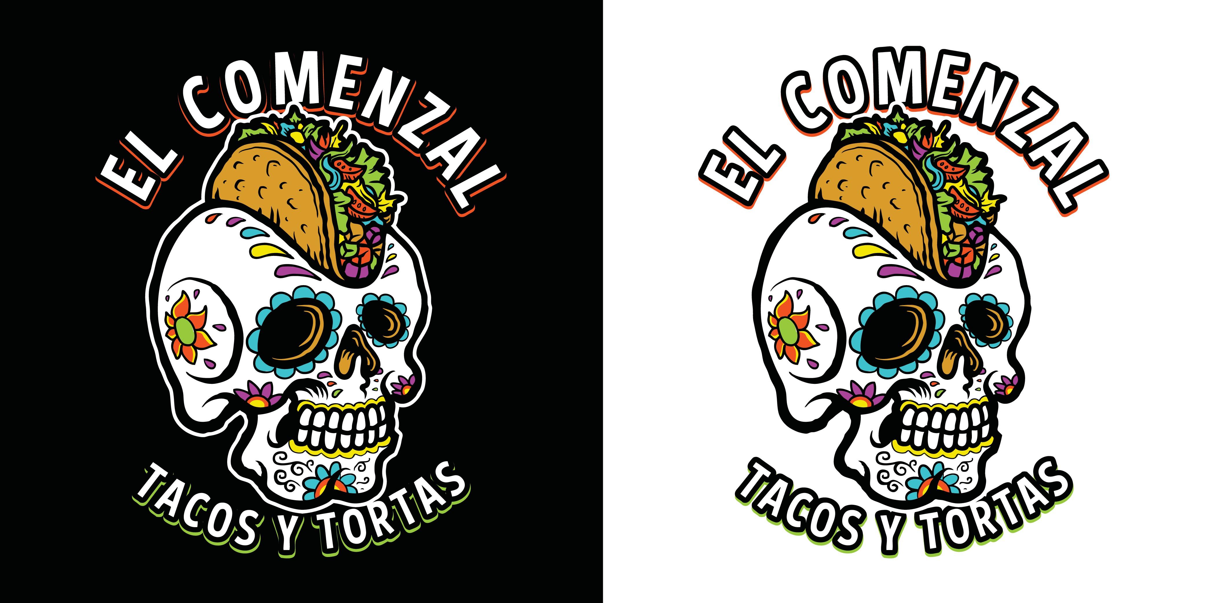 Logo Design for El Comenzal Mexican Food Truck