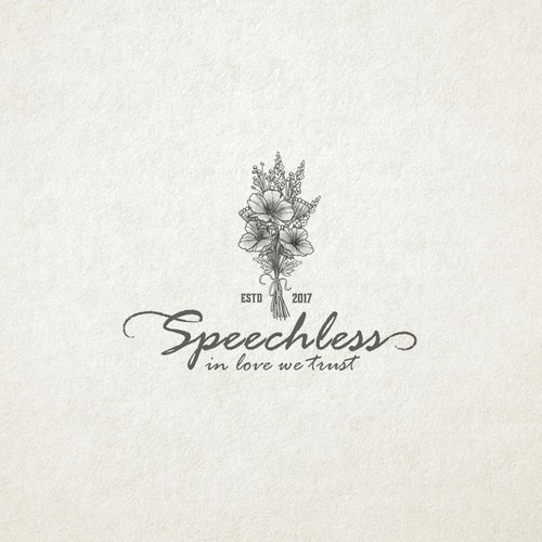 Logo concept design for Speechless bouquet maker