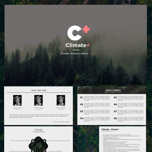 PowerPoint template for environmental topic