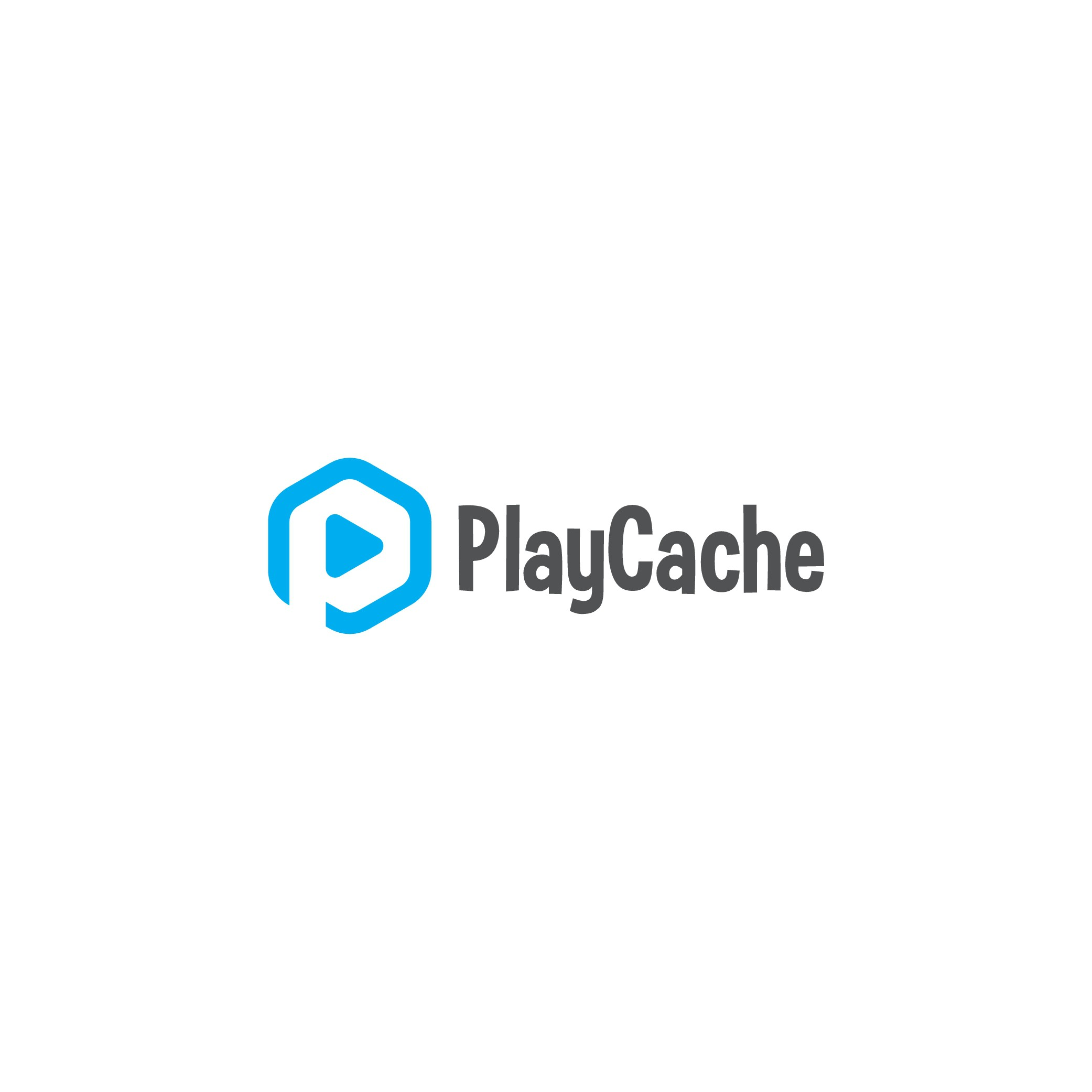 Create a fun mobile publisher logo for PlayCache