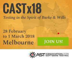 Banner for CASTx18 software testing conference in Melbourne