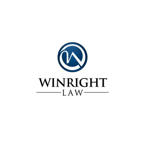 Create an innovative logo for a leading law firm, Winright Law