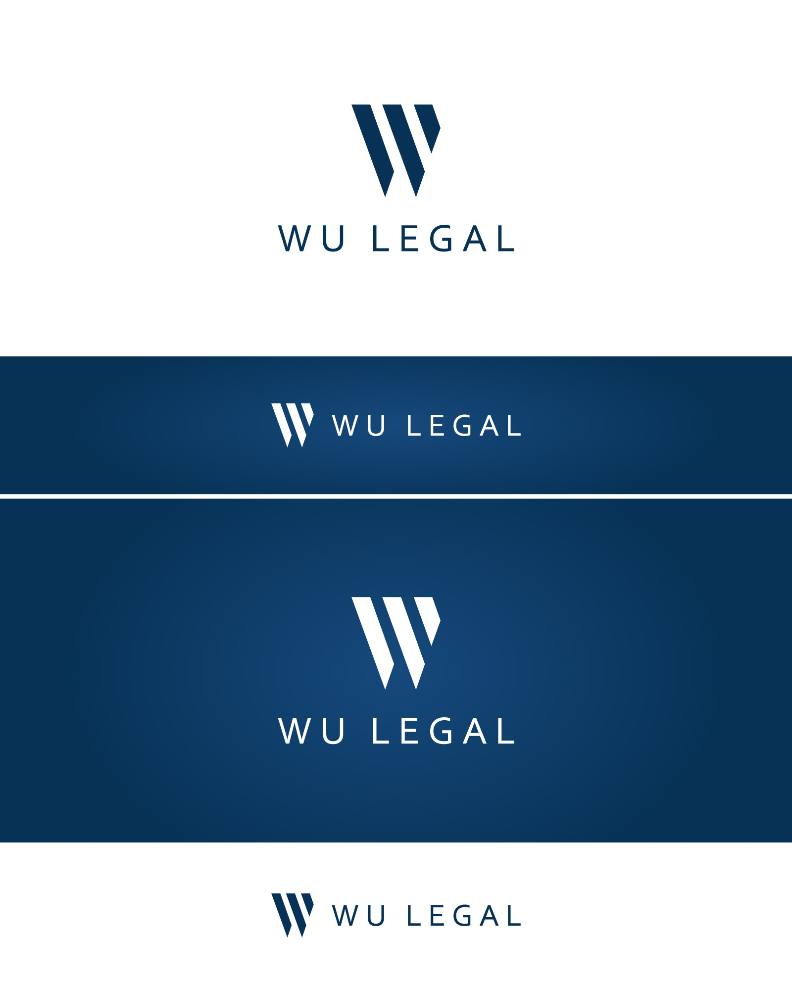 "Create a professional, modern logo for my law firm ""Wu Legal""."