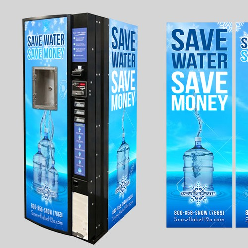 Create a Vibrant, Refreshing Wrap Sign for a water vending machine (Pics in Brief)