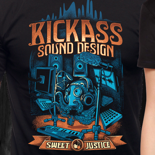 KICKASS vintage t-shirt design for sweet justice!