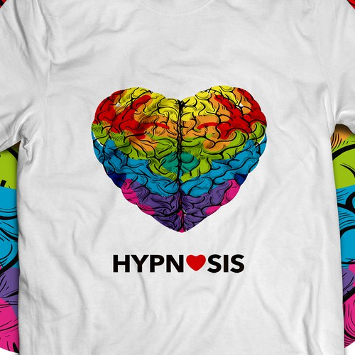 Heart + Brain Hypnosis tshirt design