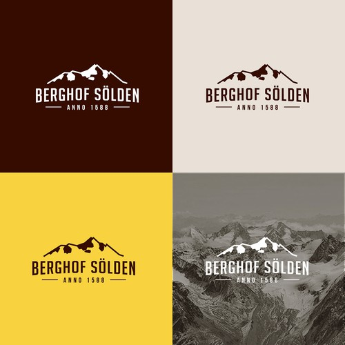 Clean logo for an apart hotel in the Alps